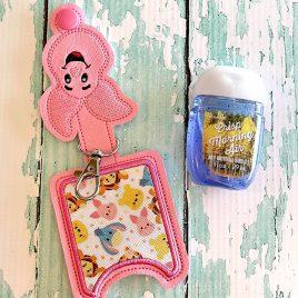 Tiny Pig Applique Fold Over Sanitizer Holder 5×7- DIGITAL Embroidery DESIGN
