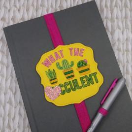 Mature Succulent Book Band – Embroidery Design, Digital File