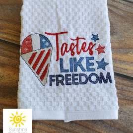 Tastes Like Freedom – 3 sizes- Digital Embroidery Design