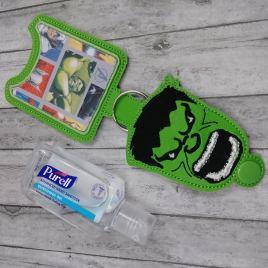 Hulk Hero Applique Fold Over Sanitizer Holder 5×7- DIGITAL Embroidery DESIGN