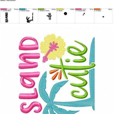 Island Cutie 6×10