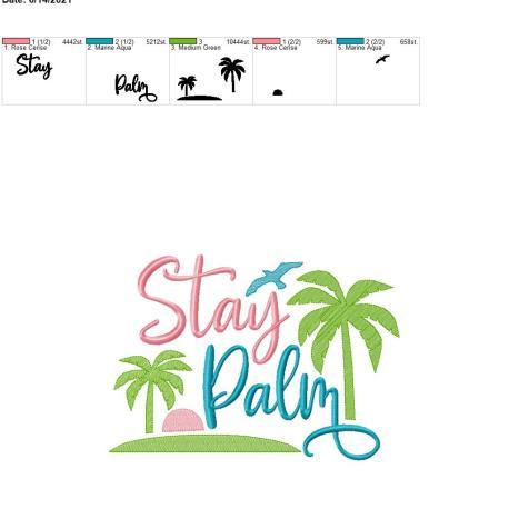 Stay Palm 8×12