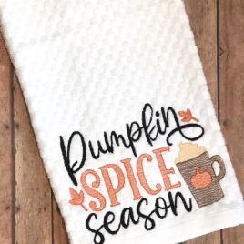 Pumpkin Spice Season – 4 sizes- Digital Embroidery Design