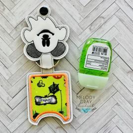 Ghost Mouse Applique Fold Over Sanitizer Holder 5×7- DIGITAL Embroidery DESIGN