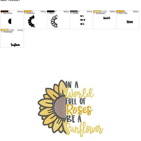 Be a Sunflower 8×12