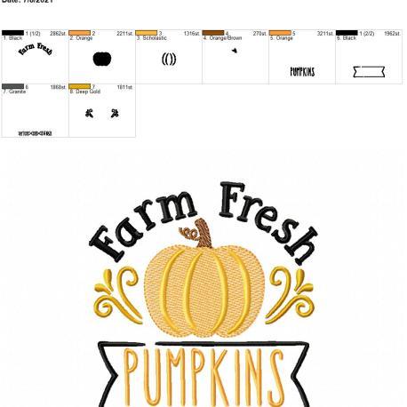 Farm Fresh Pumpkins 5×7