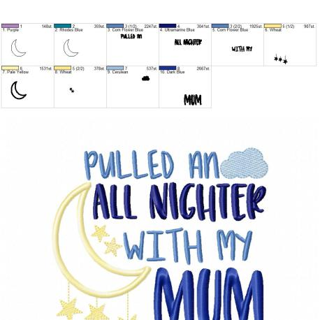 Pulled an all nighter Mum 6×10