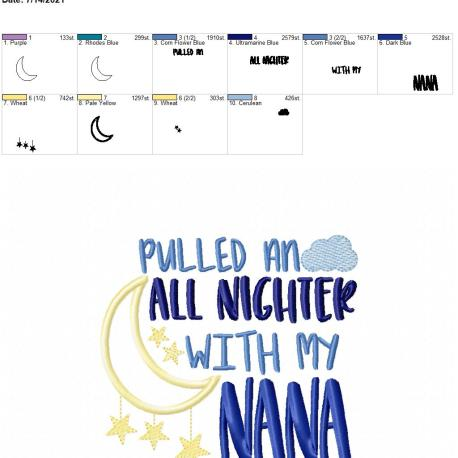 Pulled an all nighter Nana 5×7
