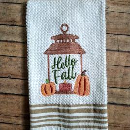 Hello Fall – 3 sizes- Digital Embroidery Design