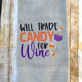 Trade Candy for Wine – 4 sizes- Digital Embroidery Design