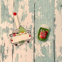Gnome Apple Truck Sanitizer Holder – DIGITAL Embroidery DESIGN