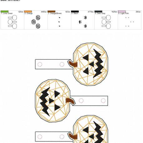 Geometric jack o lantern snaptab 5×7 grouped