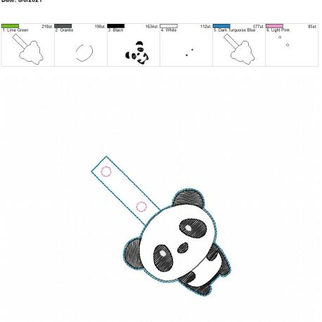 Kawaii Panda Snaptab 4×4