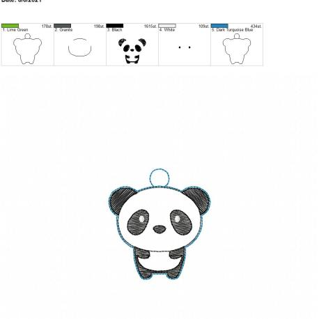 Kawaii Panda eyelet 4×4