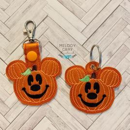 Mr. Pumpkin Mouse Fobs – DIGITAL Embroidery DESIGN