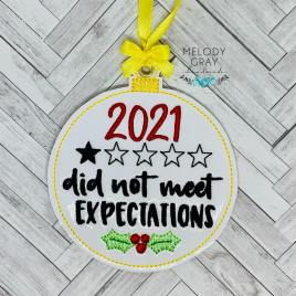 2021 Expectations Ornament – Digital Embroidery Design
