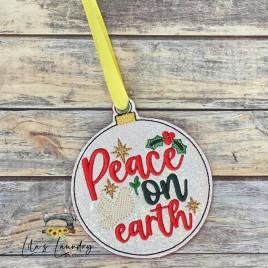 Peace on Earth Ornament – Digital Embroidery Design