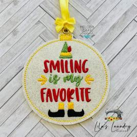 Smiling is my Favorite Ornament – Digital Embroidery Design