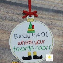 Favorite Color Ornament – Digital Embroidery Design