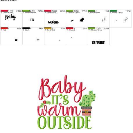 Baby it's warm outside 8×12