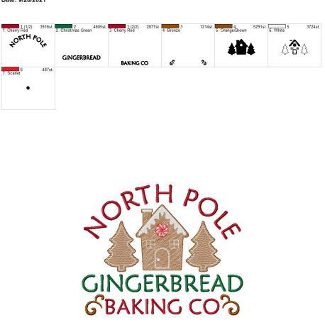 Gingerbread baking co 8×12
