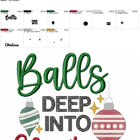 Balls deep into Christmas 8×12