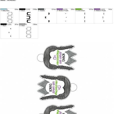 Wednesdays we wear black eyelet 5×7 grouped