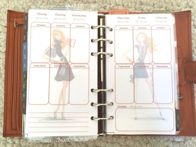 custom planner insert, bella pilar, gillio, vertical personal size insert, personal planner, planners, planner setups, planner layouts, planner vertical layouts