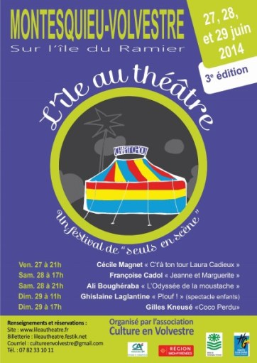 L'île au théâtre 2014 - Affiche