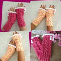 Grace and Lace Fingerless Mittens