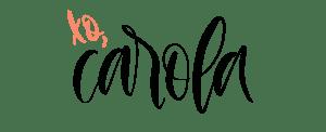 hand lettered name Carola, mompreneur blog post author