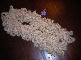Ladies Thick Oatmeal Boa Scarf