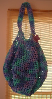 Crochet Multi Cool Colors Market Bag