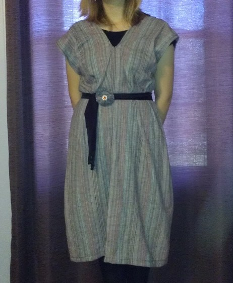 Refashioned Dress from Linen Pants