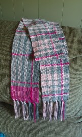 Pink and Gray Plaid