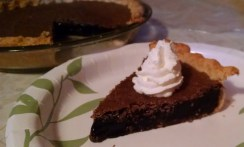 Same Chocolate Chess Pie with Whipped Cream (in my in-law's kitchen)