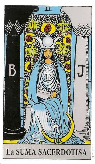 la suma sacerdotisa en el tarot