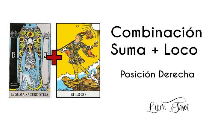 Combinación de La Suma Sacerdotisa con el Loco con en el Tarot – Posición derecha.