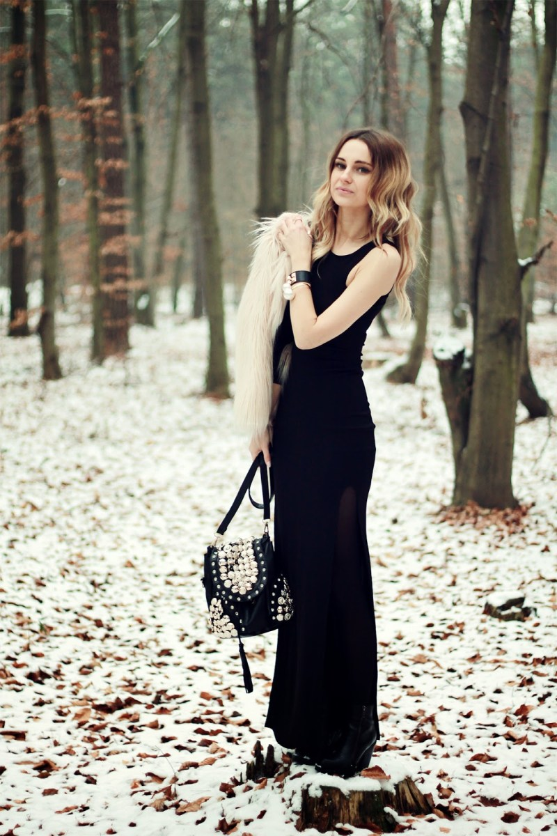 #CHIC #black #dress - forest #party...