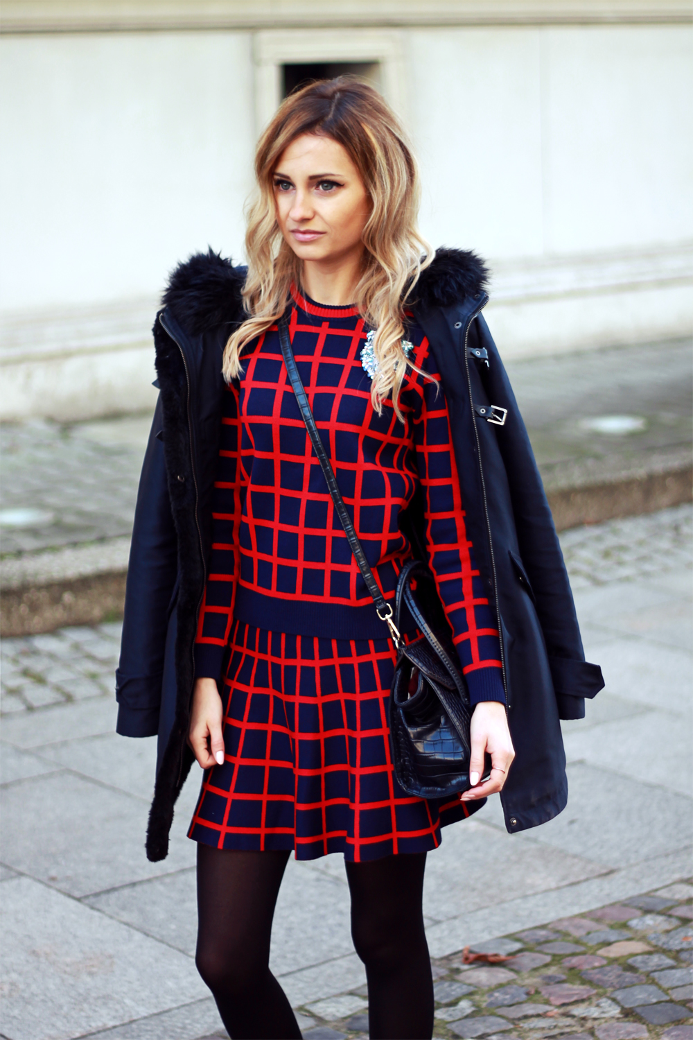 blonde fashion blogger girl look combo outfit street style tumblr ootd clothing