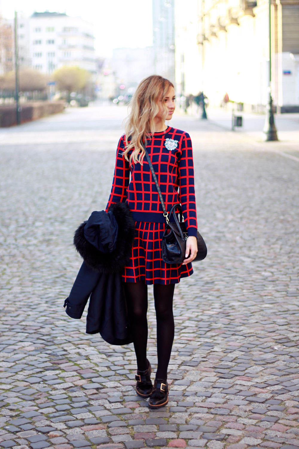 blonde fashion blogger girl look combo outfit street style tumblr vogue ootd
