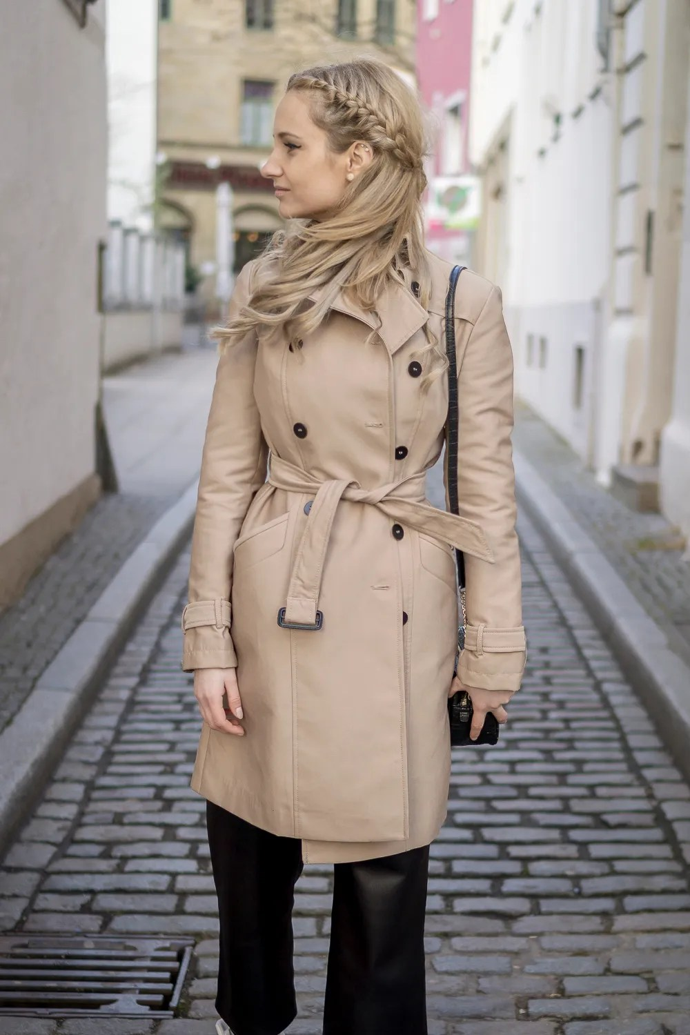 beige trench coat zara outfit look ootd lookbook