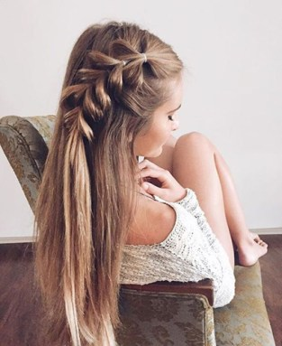 braids inspiration tumblr pinterest hairstyle side braid inspo long blonde hair girl 2
