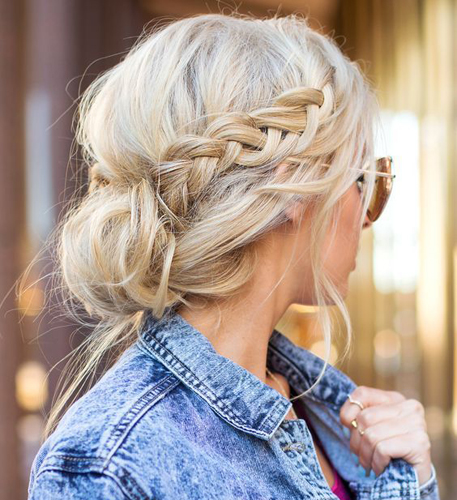 braids inspiration tumblr pinterest hairstyle side braid messy hair inspo long blonde hair girl