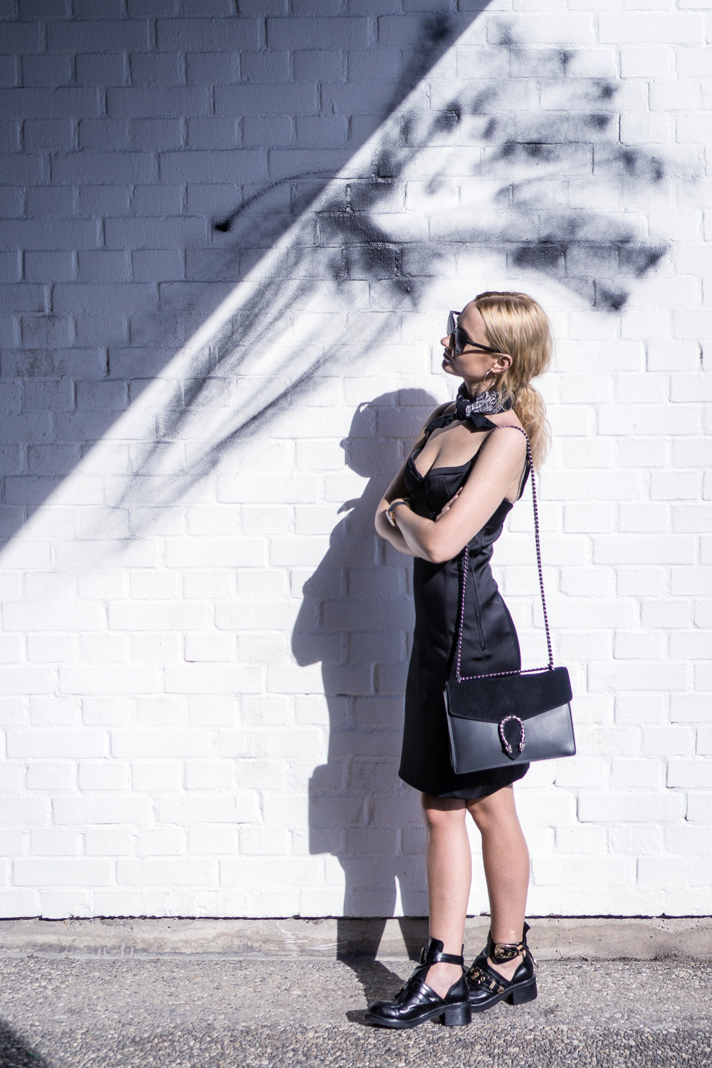 black dress hm balenciaga boots blonde bloger street style ootd fashion outfit tumblr girl summer fashion