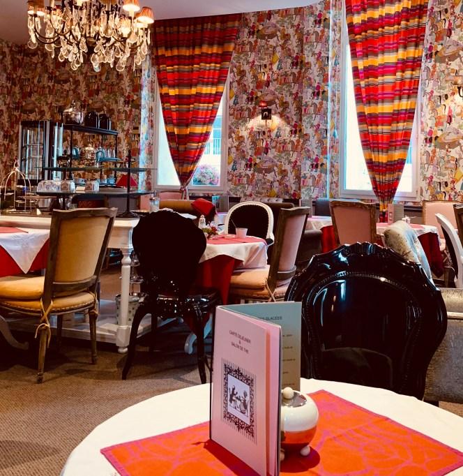 salon de thé Marco Polo avec ses belles couleurs