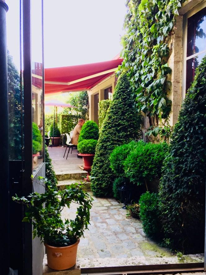 Bienvenue au restaurant à la maison terrasse