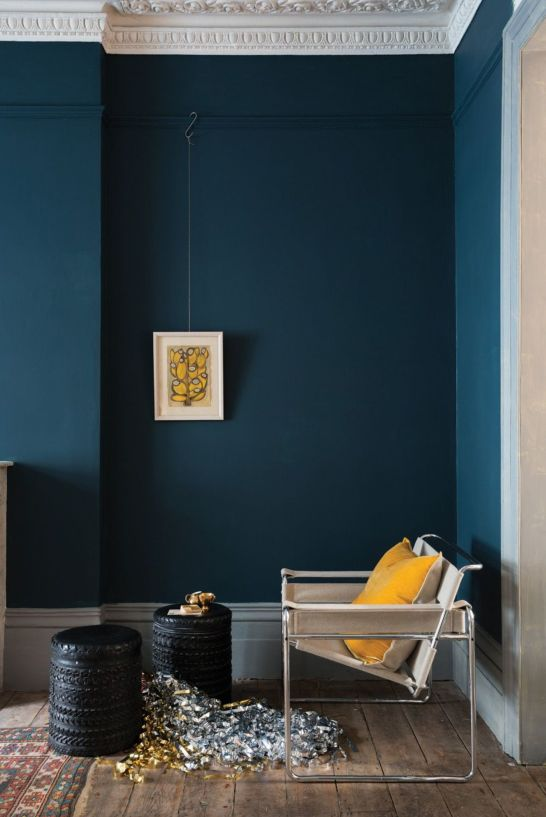 farrow and ball bleu canard salon lili deambule