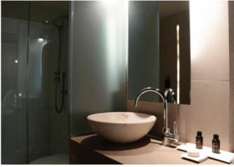 douche vasque salle de bain design hotel