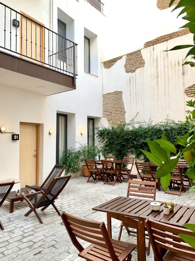 cour intérieure for you hostel